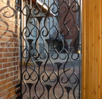 Embassy Circle - Custom Iron Gate - Back Patio