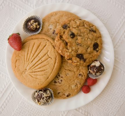 Embassy Circle - Afternoon snacks. Plate of cookies.